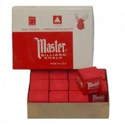Master biljartkrijtjes rood (12 stuks)