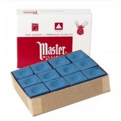 Master biljartkrijtjes blauw (12 stuks)